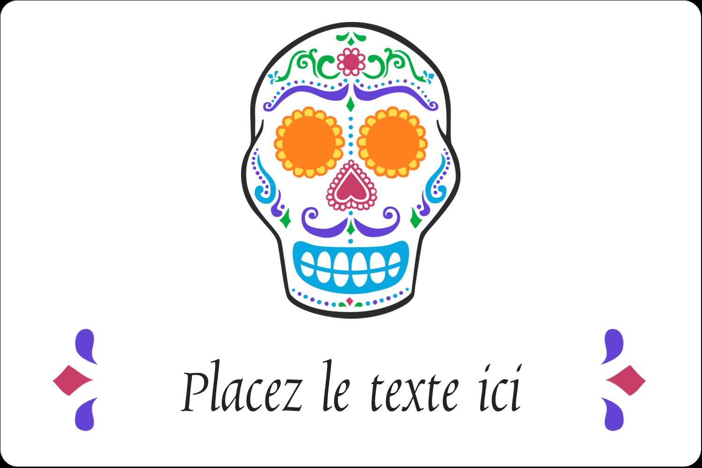 """3"""" x 3¾"""" Étiquettes rectangulaires - Le jour du Crâne"""