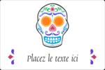 Le jour du Crâne Étiquettes rectangulaires - gabarit prédéfini. <br/>Utilisez notre logiciel Avery Design & Print Online pour personnaliser facilement la conception.