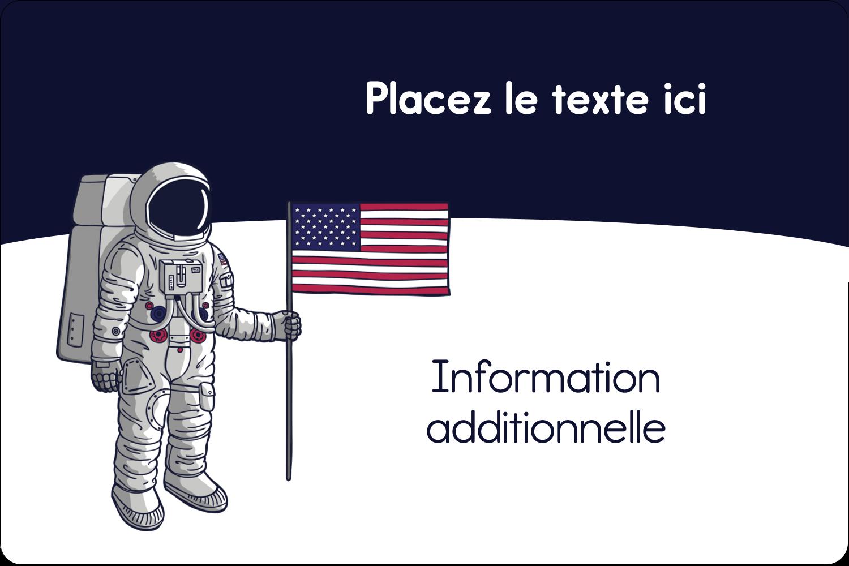 """3"""" x 3¾"""" Étiquettes rectangulaires - Astronaute"""