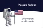 Astronaute Étiquettes rectangulaires - gabarit prédéfini. <br/>Utilisez notre logiciel Avery Design & Print Online pour personnaliser facilement la conception.