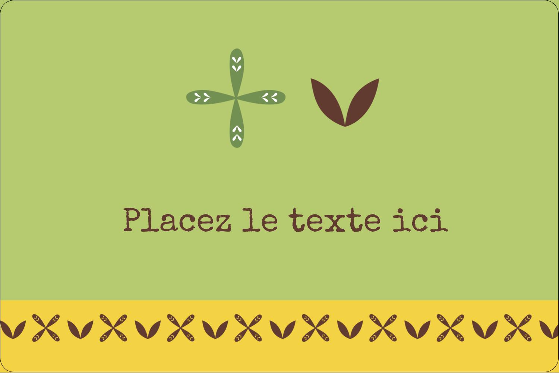 """3"""" x 3¾"""" Étiquettes rectangulaires - Fleurs vertes géométriques"""