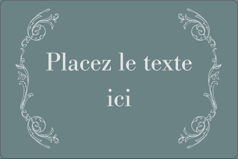 """3"""" x 3¾"""" Étiquettes rectangulaires - Cachet français"""