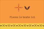 Fleurs orange géométriques Étiquettes rectangulaires - gabarit prédéfini. <br/>Utilisez notre logiciel Avery Design & Print Online pour personnaliser facilement la conception.