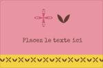 Fleurs roses géométriques Étiquettes rectangulaires - gabarit prédéfini. <br/>Utilisez notre logiciel Avery Design & Print Online pour personnaliser facilement la conception.