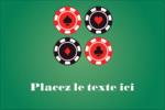 Partie de poker Étiquettes rectangulaires - gabarit prédéfini. <br/>Utilisez notre logiciel Avery Design & Print Online pour personnaliser facilement la conception.