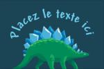 Dinosaure Étiquettes rectangulaires - gabarit prédéfini. <br/>Utilisez notre logiciel Avery Design & Print Online pour personnaliser facilement la conception.
