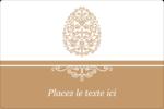 Œuf de Pâques de couleur bronze Étiquettes rectangulaires - gabarit prédéfini. <br/>Utilisez notre logiciel Avery Design & Print Online pour personnaliser facilement la conception.