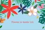 Plantes tropicales Étiquettes rectangulaires - gabarit prédéfini. <br/>Utilisez notre logiciel Avery Design & Print Online pour personnaliser facilement la conception.