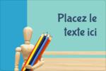 Enseignement des arts Étiquettes rectangulaires - gabarit prédéfini. <br/>Utilisez notre logiciel Avery Design & Print Online pour personnaliser facilement la conception.