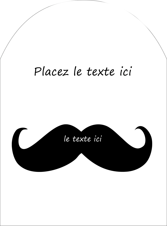 """4¾"""" x 3½"""" Étiquettes rectangulaires - Moustache de bonbons"""