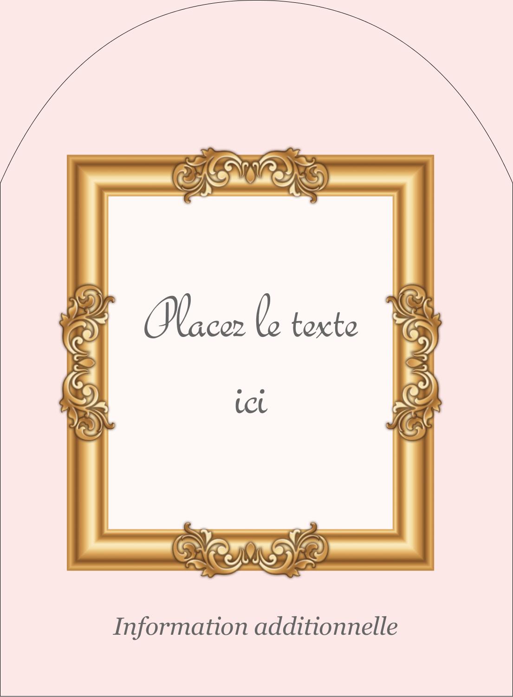 """4¾"""" x 3½"""" Étiquettes rectangulaires - Galerie d'art"""