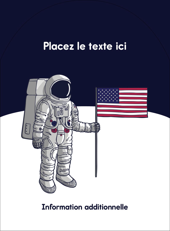 """4¾"""" x 3½"""" Étiquettes rectangulaires - Astronaute"""