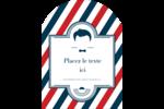 Salon de barbier Étiquettes rectangulaires - gabarit prédéfini. <br/>Utilisez notre logiciel Avery Design & Print Online pour personnaliser facilement la conception.