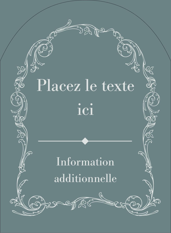 """4¾"""" x 3½"""" Étiquettes rectangulaires - Cachet français"""