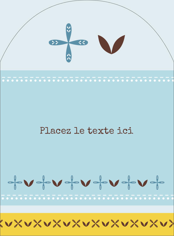 """4¾"""" x 3½"""" Étiquettes rectangulaires - Bain bleu"""