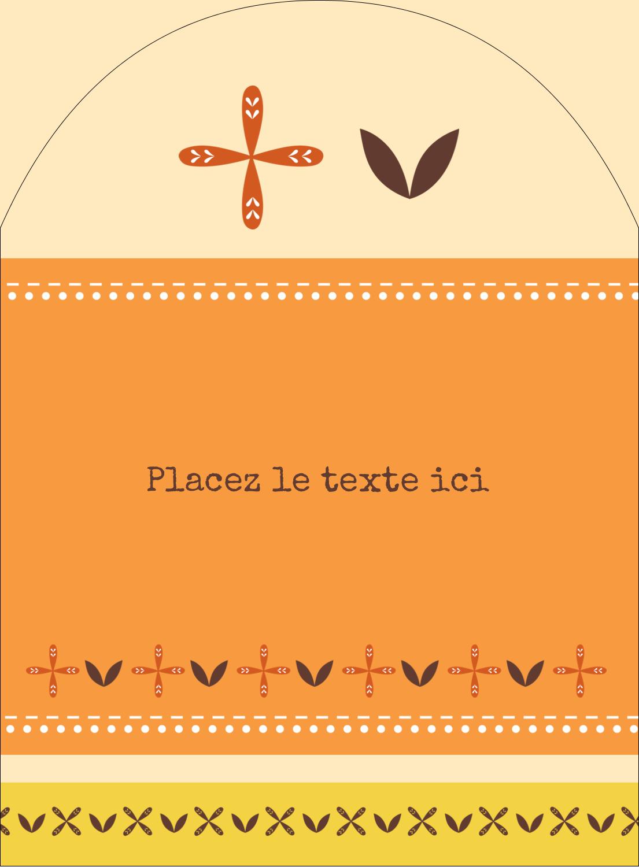 """4¾"""" x 3½"""" Étiquettes rectangulaires - Fleurs orange géométriques"""