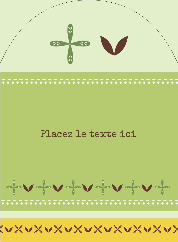 """4¾"""" x 3½"""" Étiquettes rectangulaires - Fleurs vertes géométriques"""