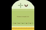 Fleurs vertes géométriques Étiquettes rectangulaires - gabarit prédéfini. <br/>Utilisez notre logiciel Avery Design & Print Online pour personnaliser facilement la conception.