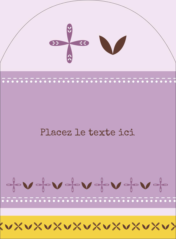 """4¾"""" x 3½"""" Étiquettes rectangulaires - Lavande géométrique"""