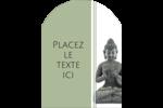 Bouddha Étiquettes rectangulaires - gabarit prédéfini. <br/>Utilisez notre logiciel Avery Design & Print Online pour personnaliser facilement la conception.