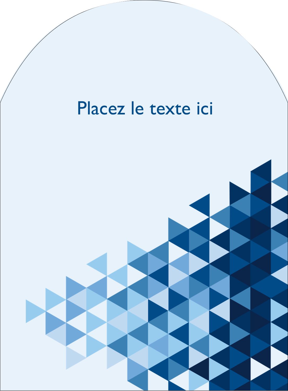 """4¾"""" x 3½"""" Étiquettes rectangulaires - Angles bleus"""