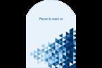 Angles bleus  Étiquettes rectangulaires - gabarit prédéfini. <br/>Utilisez notre logiciel Avery Design & Print Online pour personnaliser facilement la conception.