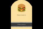 Hamburger Étiquettes rectangulaires - gabarit prédéfini. <br/>Utilisez notre logiciel Avery Design & Print Online pour personnaliser facilement la conception.
