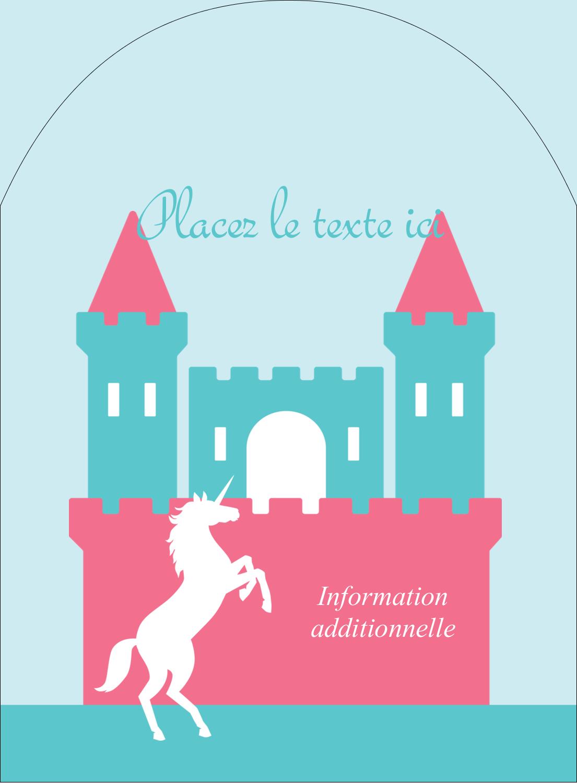 """4¾"""" x 3½"""" Étiquettes rectangulaires - Château"""