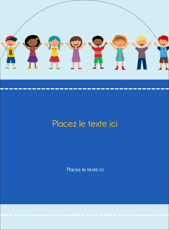 """4¾"""" x 3½"""" Étiquettes rectangulaires - Éducation des enfants"""