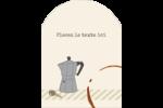L'heure du café Étiquettes rectangulaires - gabarit prédéfini. <br/>Utilisez notre logiciel Avery Design & Print Online pour personnaliser facilement la conception.