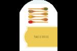 Cuillères Étiquettes rectangulaires - gabarit prédéfini. <br/>Utilisez notre logiciel Avery Design & Print Online pour personnaliser facilement la conception.
