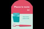 Soie dentaire Étiquettes rectangulaires - gabarit prédéfini. <br/>Utilisez notre logiciel Avery Design & Print Online pour personnaliser facilement la conception.