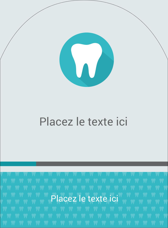 """4¾"""" x 3½"""" Étiquettes rectangulaires - Dent"""