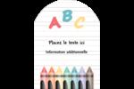 Enseignement préscolaire Étiquettes rectangulaires - gabarit prédéfini. <br/>Utilisez notre logiciel Avery Design & Print Online pour personnaliser facilement la conception.