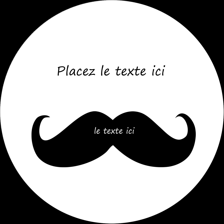"""4¾"""" x 3½"""" Étiquettes arrondies - Moustache de bonbons"""