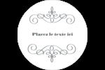 Souhaits d'anniversaire Étiquettes arrondies - gabarit prédéfini. <br/>Utilisez notre logiciel Avery Design & Print Online pour personnaliser facilement la conception.