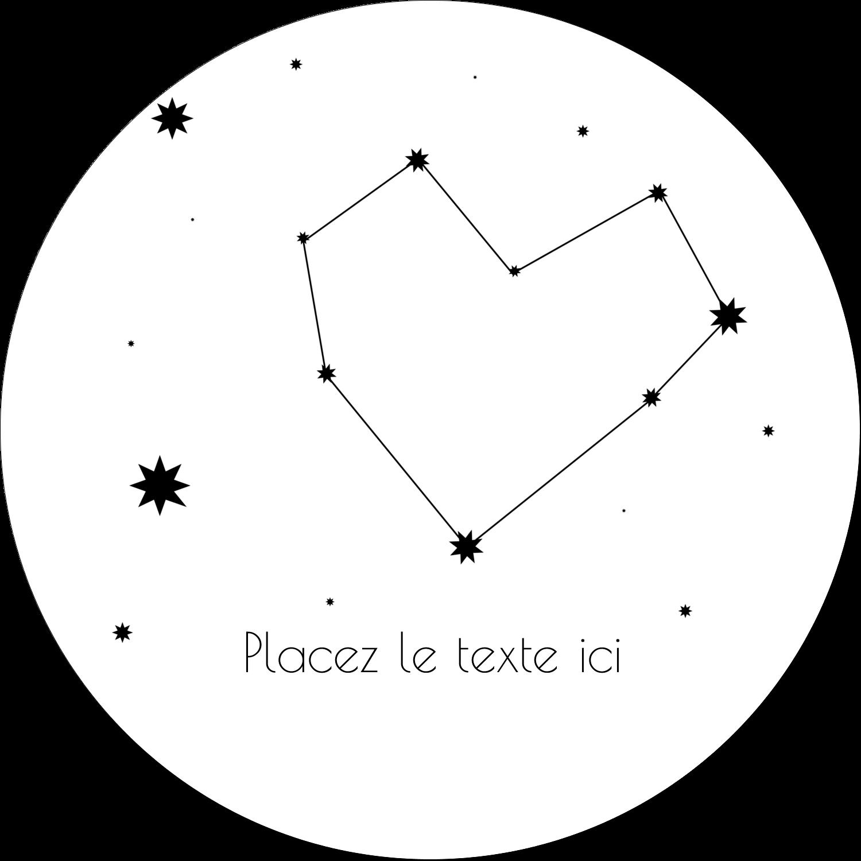 """4¾"""" x 3½"""" Étiquettes arrondies - Étoiles d'anniversaire"""