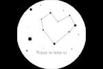 Étoiles d'anniversaire Étiquettes arrondies - gabarit prédéfini. <br/>Utilisez notre logiciel Avery Design & Print Online pour personnaliser facilement la conception.