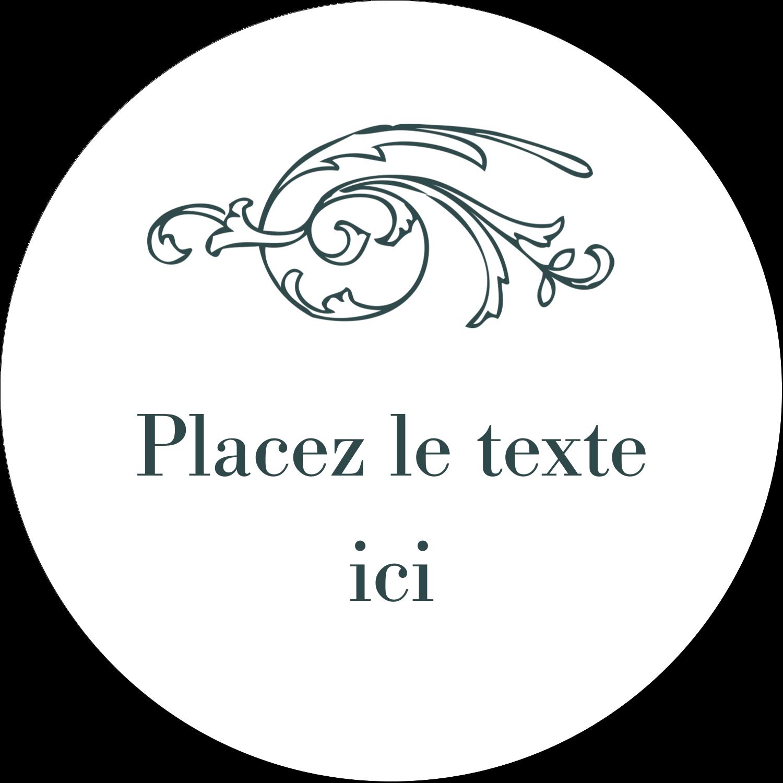"""4¾"""" x 3½"""" Étiquettes arrondies - Cachet français"""