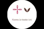 Fleurs roses géométriques Étiquettes arrondies - gabarit prédéfini. <br/>Utilisez notre logiciel Avery Design & Print Online pour personnaliser facilement la conception.