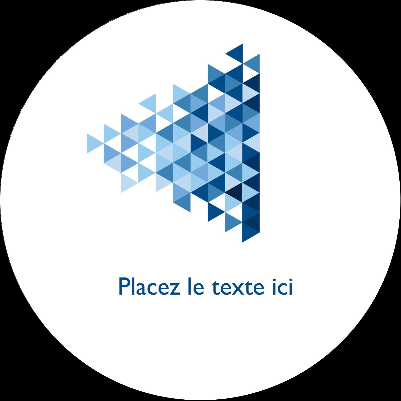 """4¾"""" x 3½"""" Étiquettes arrondies - Angles bleus"""