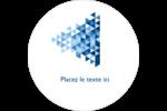 Angles bleus  Étiquettes arrondies - gabarit prédéfini. <br/>Utilisez notre logiciel Avery Design & Print Online pour personnaliser facilement la conception.