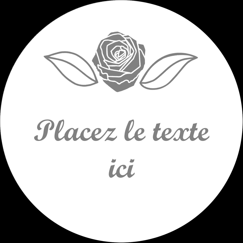 """4¾"""" x 3½"""" Étiquettes arrondies - Bouquet de fleurs"""