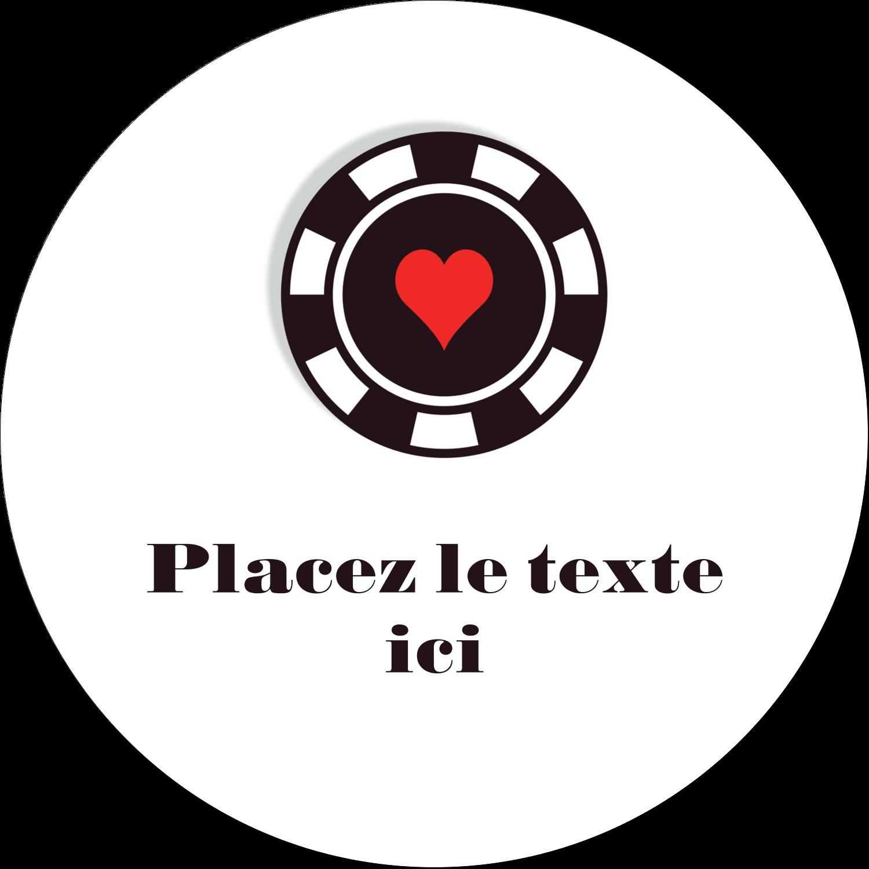 """4¾"""" x 3½"""" Étiquettes arrondies - Partie de poker"""
