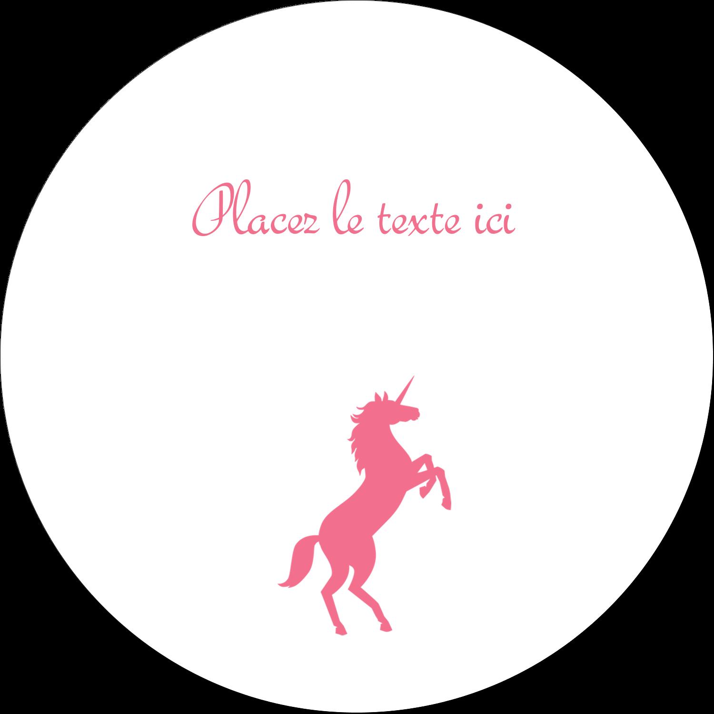 """4¾"""" x 3½"""" Étiquettes arrondies - Château"""
