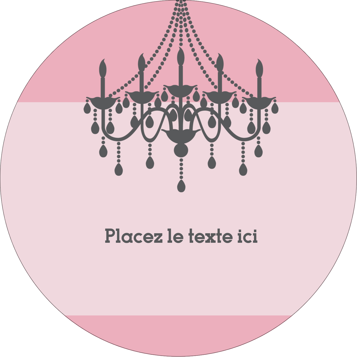 "4¾"" x 3½"" Étiquettes arrondies - Chandelier"