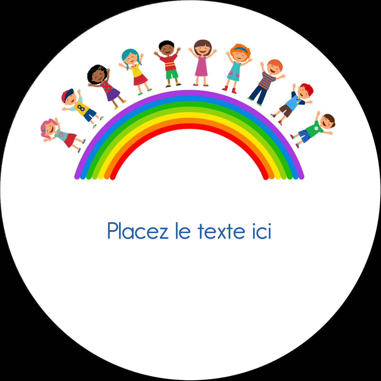 """4¾"""" x 3½"""" Étiquettes arrondies - Éducation des enfants"""