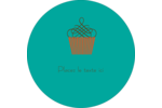 Petit gâteau Étiquettes arrondies - gabarit prédéfini. <br/>Utilisez notre logiciel Avery Design & Print Online pour personnaliser facilement la conception.