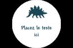 Dinosaure Étiquettes arrondies - gabarit prédéfini. <br/>Utilisez notre logiciel Avery Design & Print Online pour personnaliser facilement la conception.