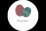 Tartan de Pâques Étiquettes arrondies - gabarit prédéfini. <br/>Utilisez notre logiciel Avery Design & Print Online pour personnaliser facilement la conception.